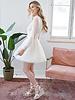 Creamy Ruffle Lace Dress