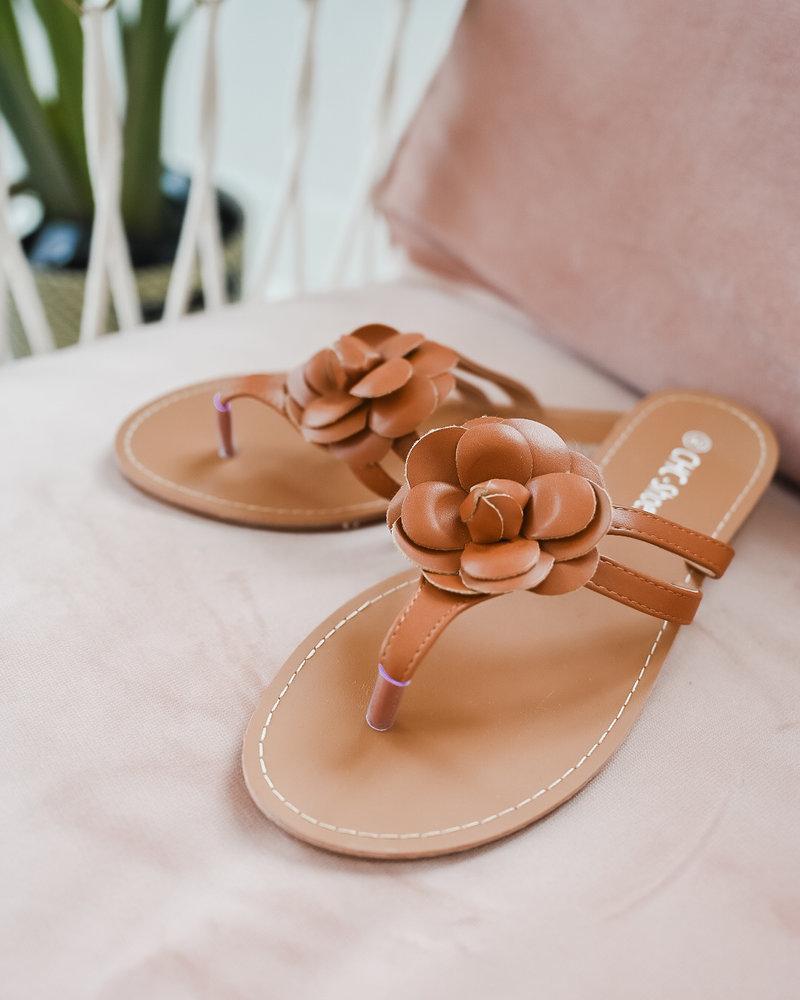 Camel Flower Slippers