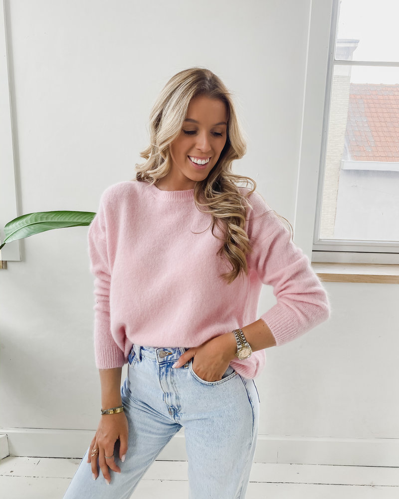 Soft Pink Sweater (Rond kraagje)