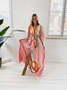 Long Pink Butterfly Dress