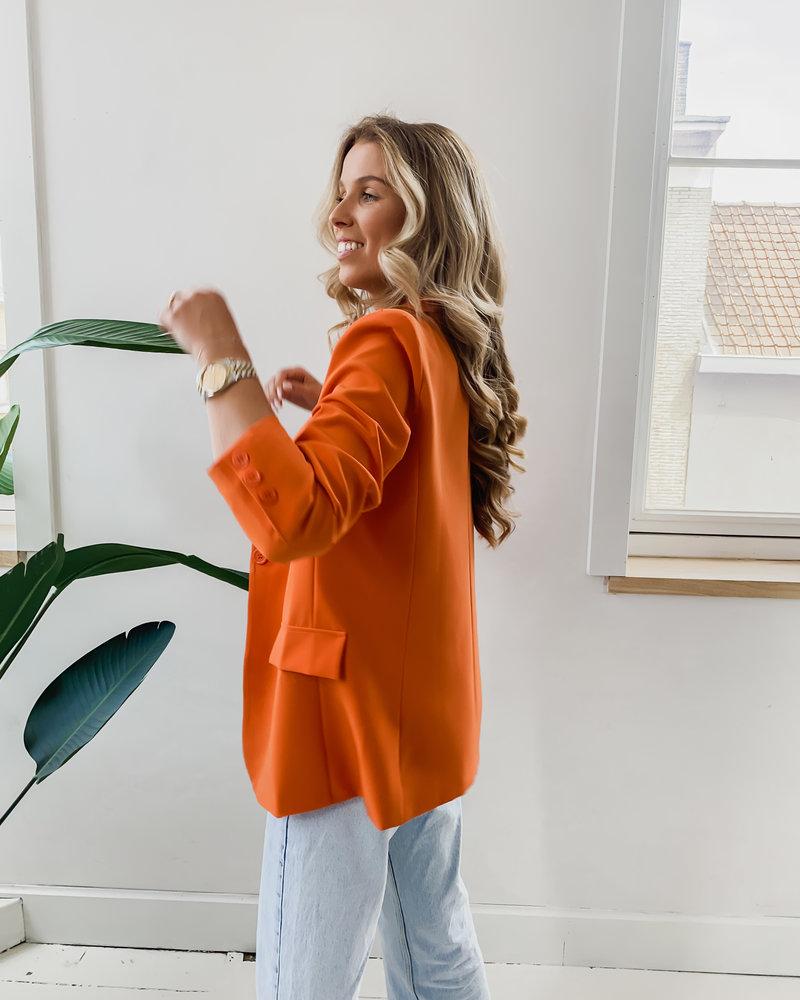 Orange Summer Blazer