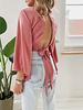 Pink Satin Daisy Top