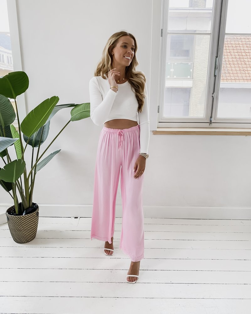 Pink Silky Trouser