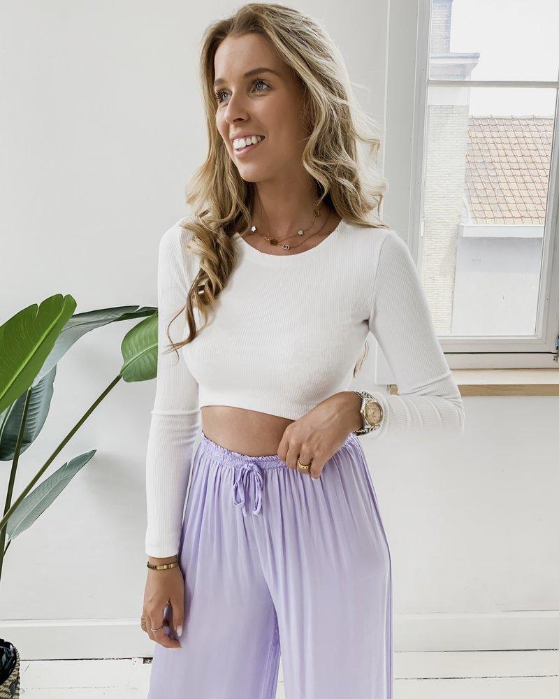 Lila Silky Trouser