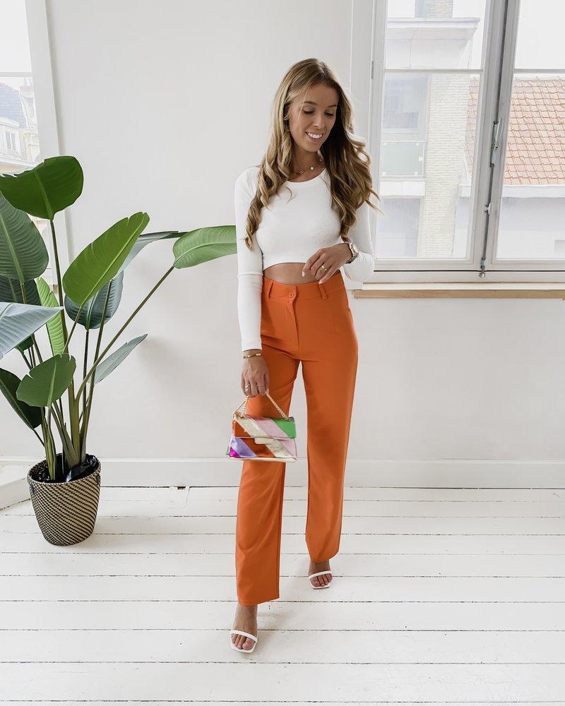 Orange Classic Trouser