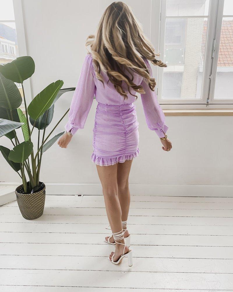 Romantic Lila Vichy Dress