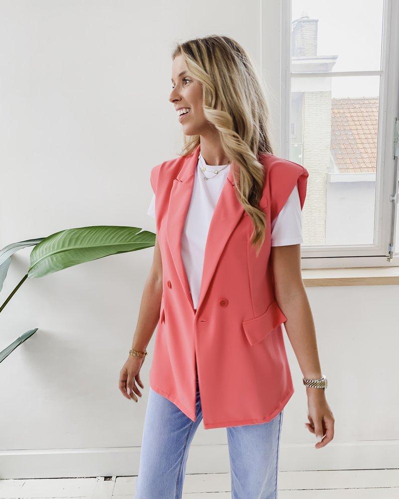 Pink Shoulder Pad Jacket
