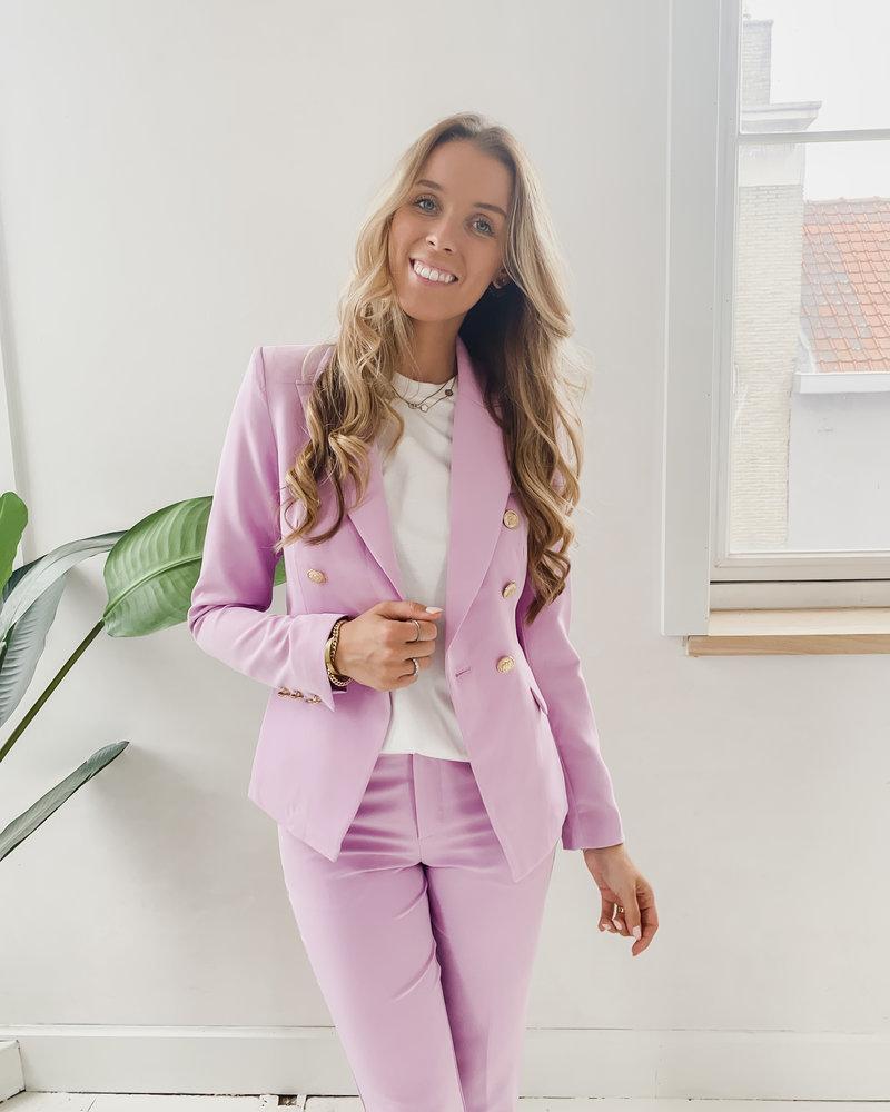 Purple Balmain Blazer
