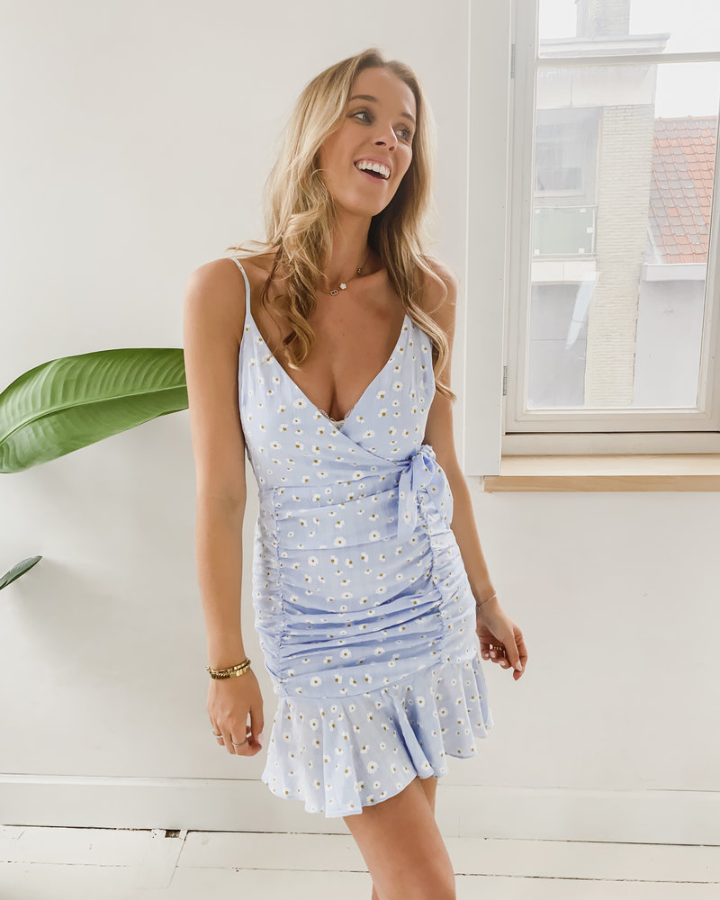 Blue Jackie Flower Dress