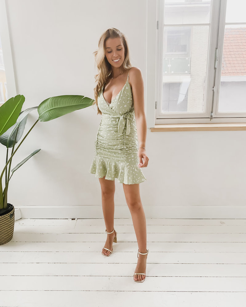 Green Jackie Flower Dress