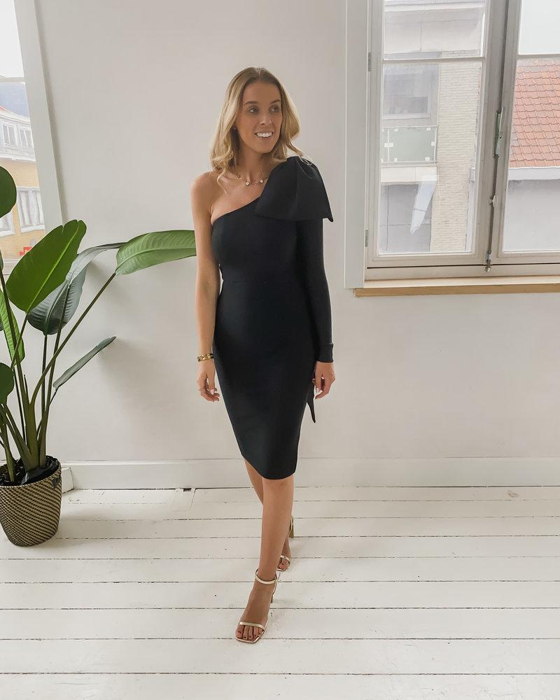 Black Long Bow Dress