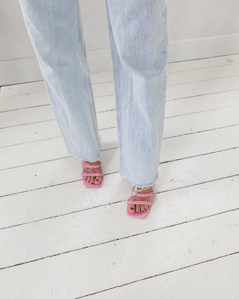Pink Braided Sandals