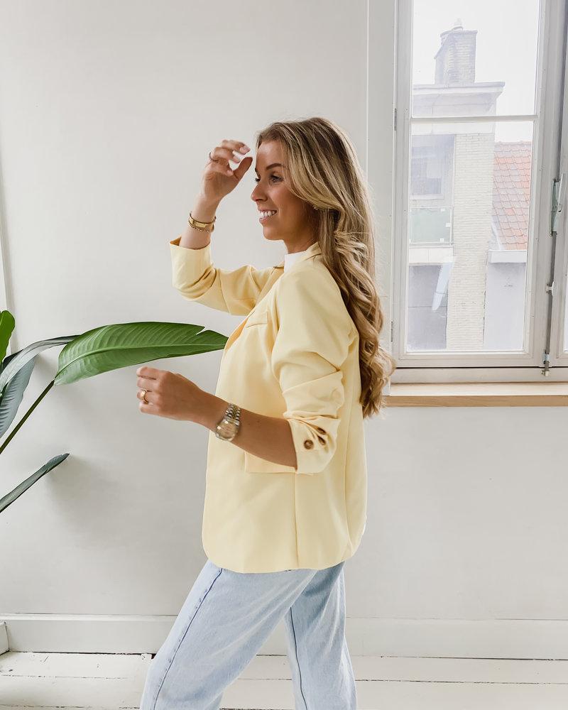 Soft Yellow Summer Blazer