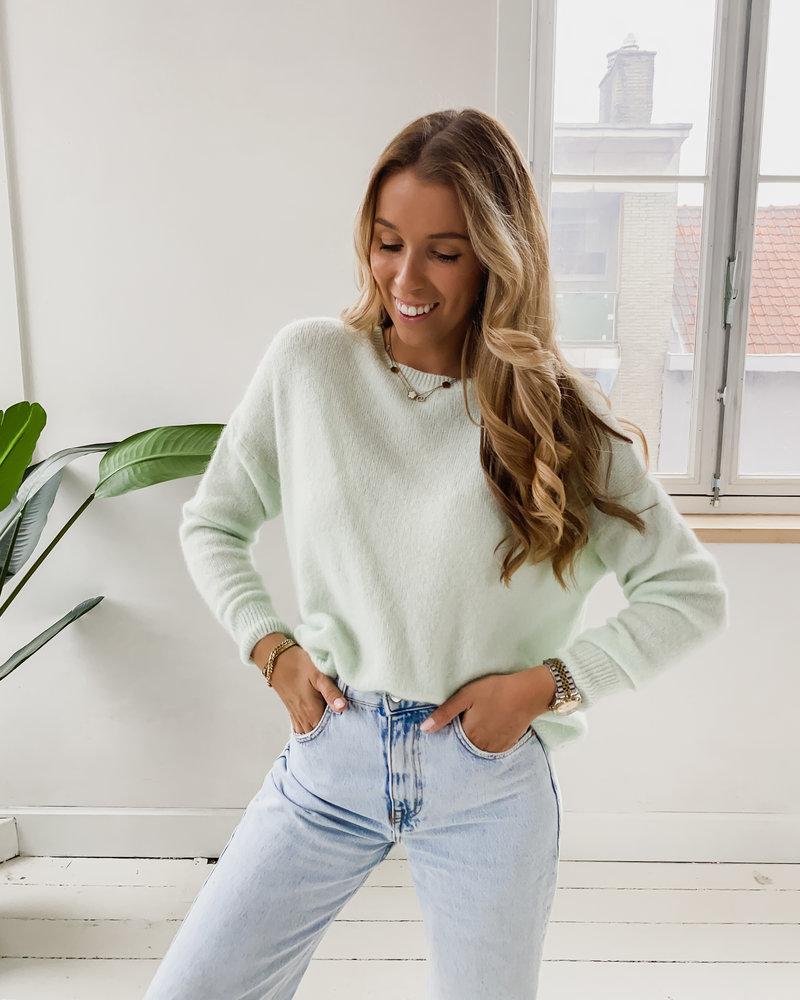 Mint Sweater (Rond kraagje)