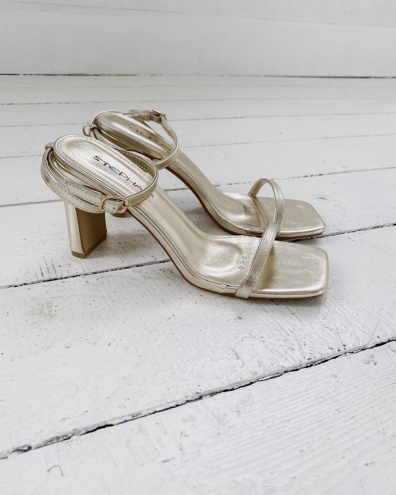 Golden Summer Heels