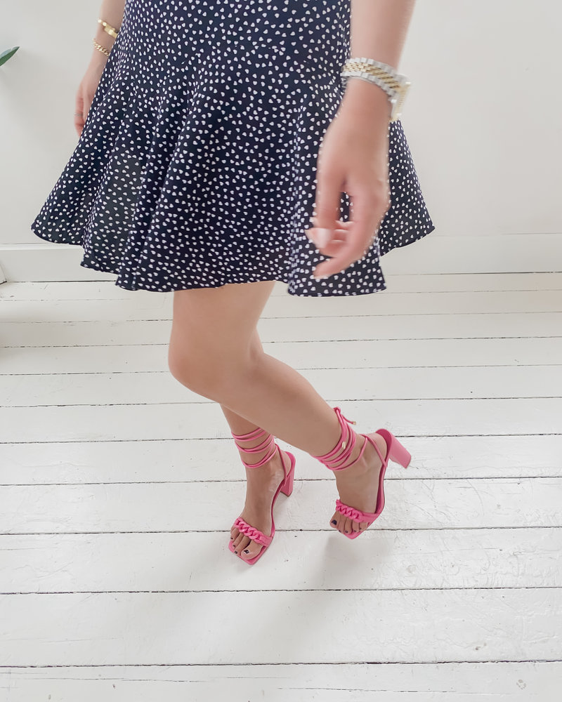 Pink Strapp Heels