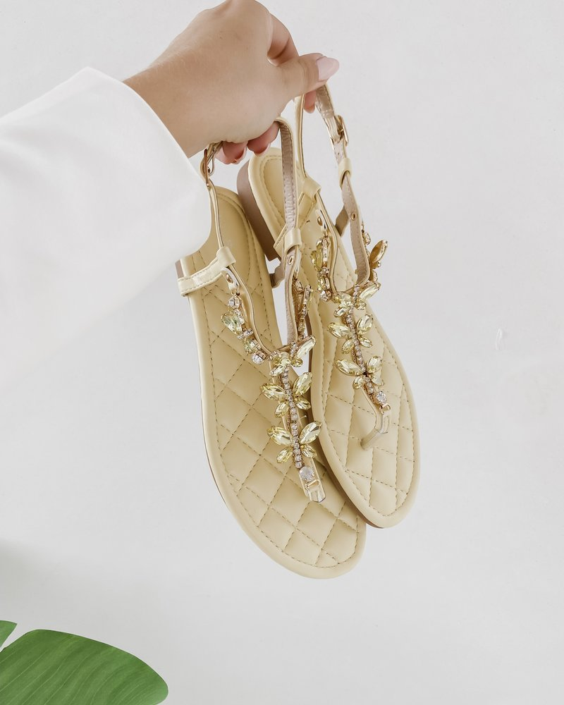 Yellow  Butterfly Sandals