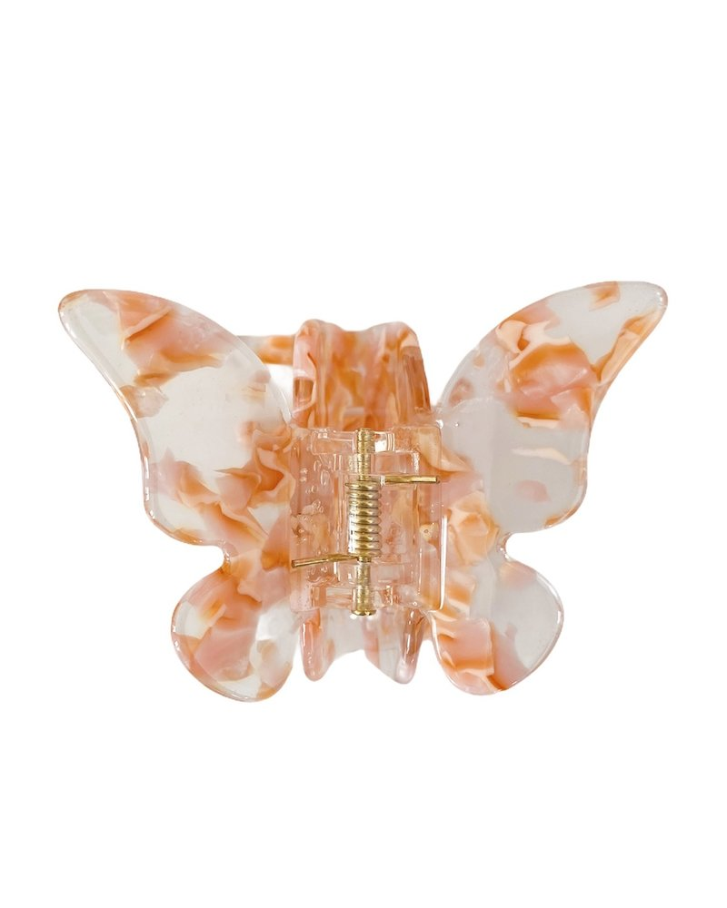 Orange Butterfly  Hairclip