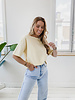 Soft Yellow Basic Oversized T-Shirt