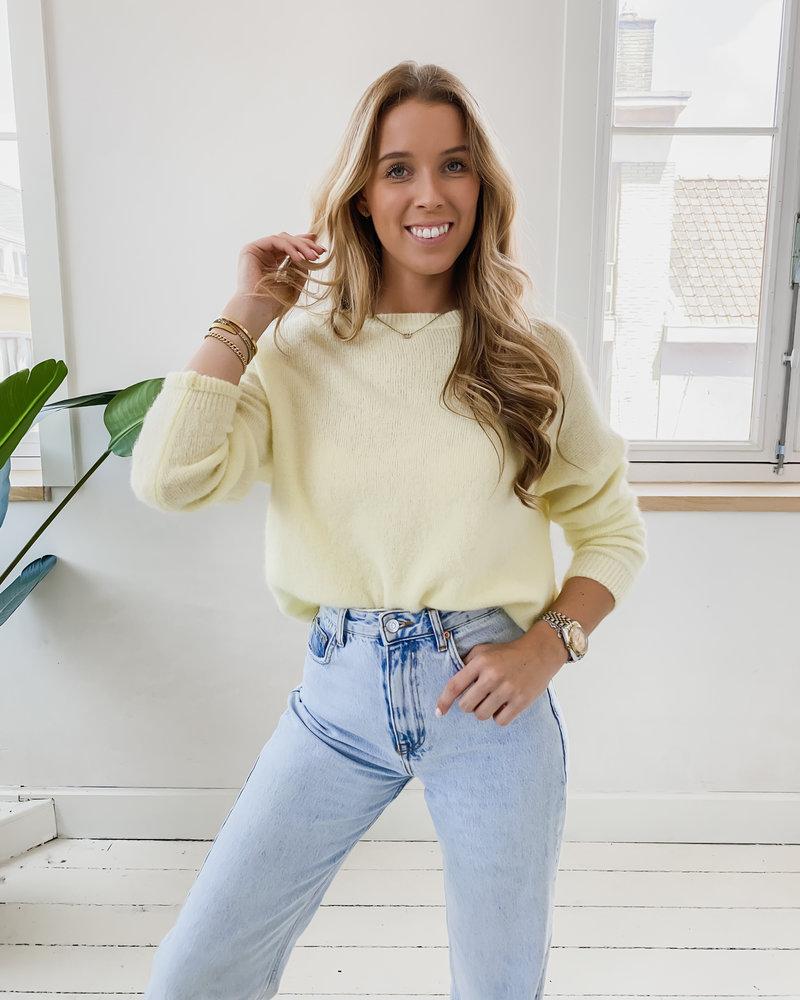 Sft Yellow Sweater (Rond kraagje)