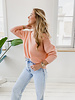Peach Sweater (Rond kraagje)