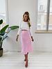 Pink Silky Skirt