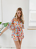 Colorful Flower Playsuit