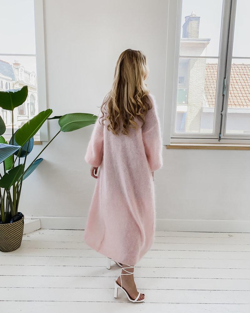 Pink Mohair Cardigan