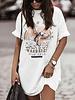 White Biker T-Shirt Dress -