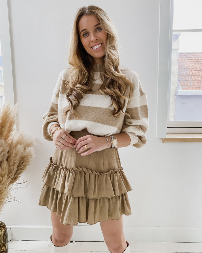 Brown Ruffle Skirt