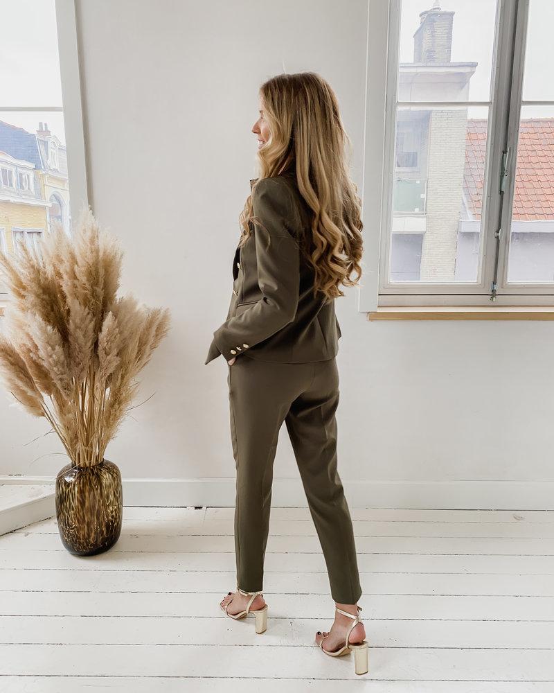 Kaki Classic Trouser