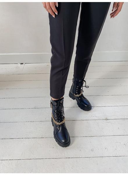Golden Chian Black Boots
