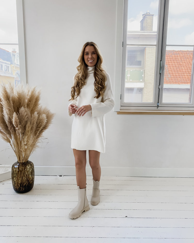 White Winter Sweater Dress