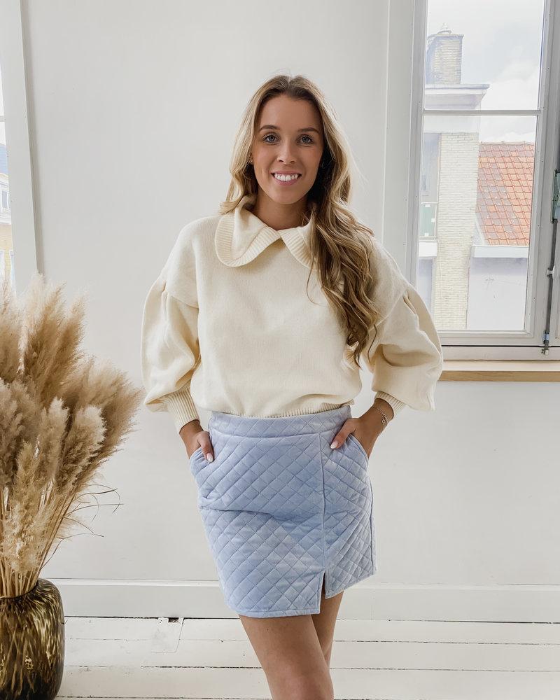 Blue Gossip Girl Skirt