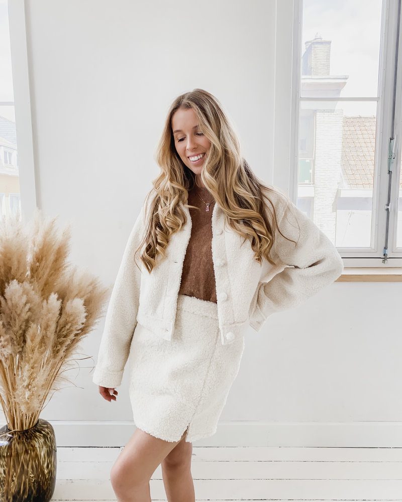 Crème Teddy Skirt