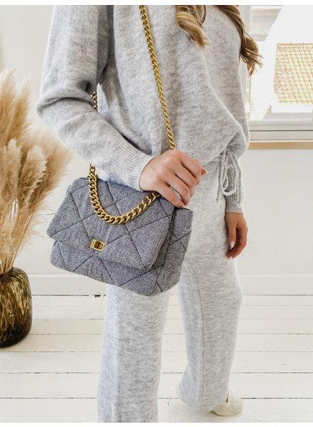 Grey Golden Chian Bag