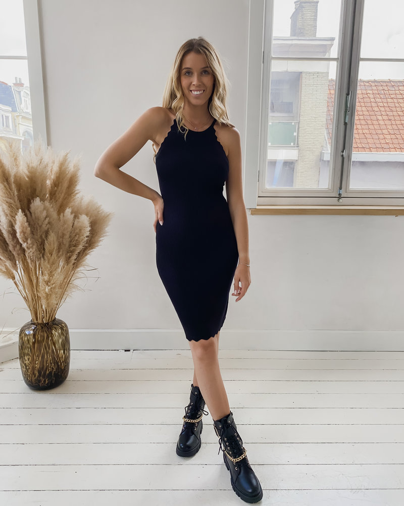 Black Detailed Stretch  Dress