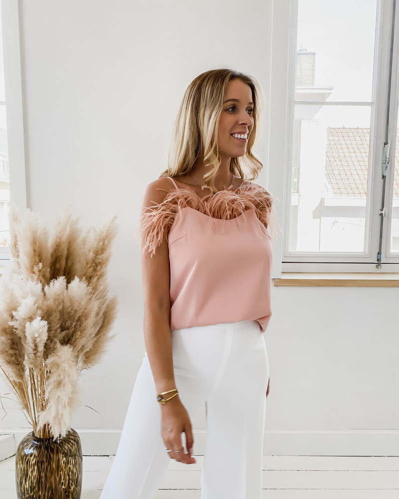 Pink Feather Top