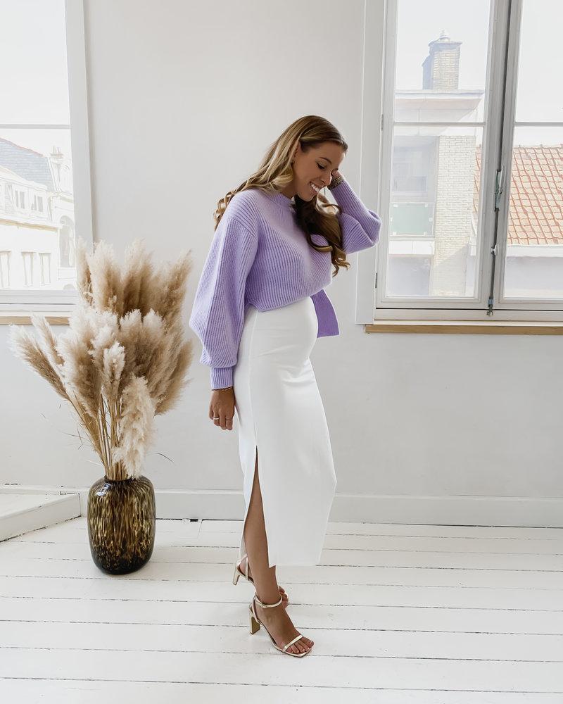 White Long Classic Skirt