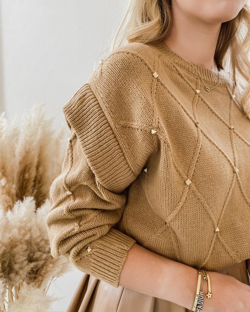 Camel Valentino Inspired Sweater