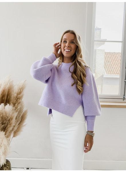 Lila Side Split Sweater