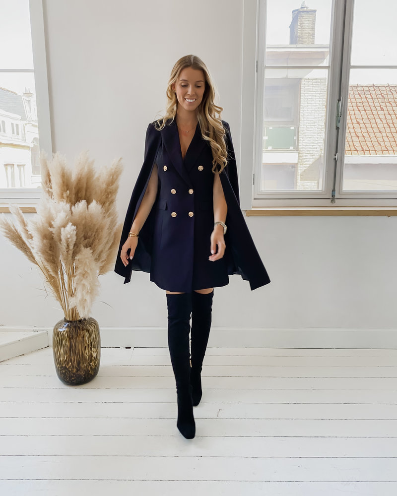 Black Cape blazer Dress