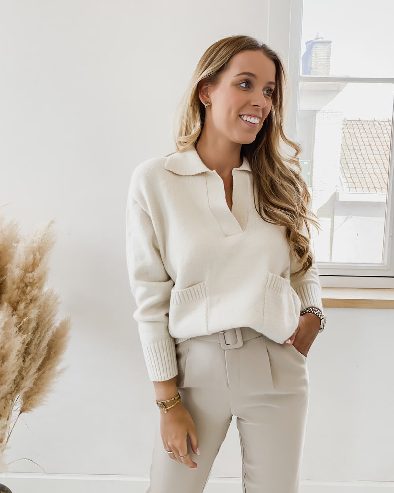 Taupe Lucy Belt trouser