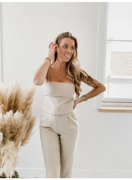 Taupe Cut Out Top