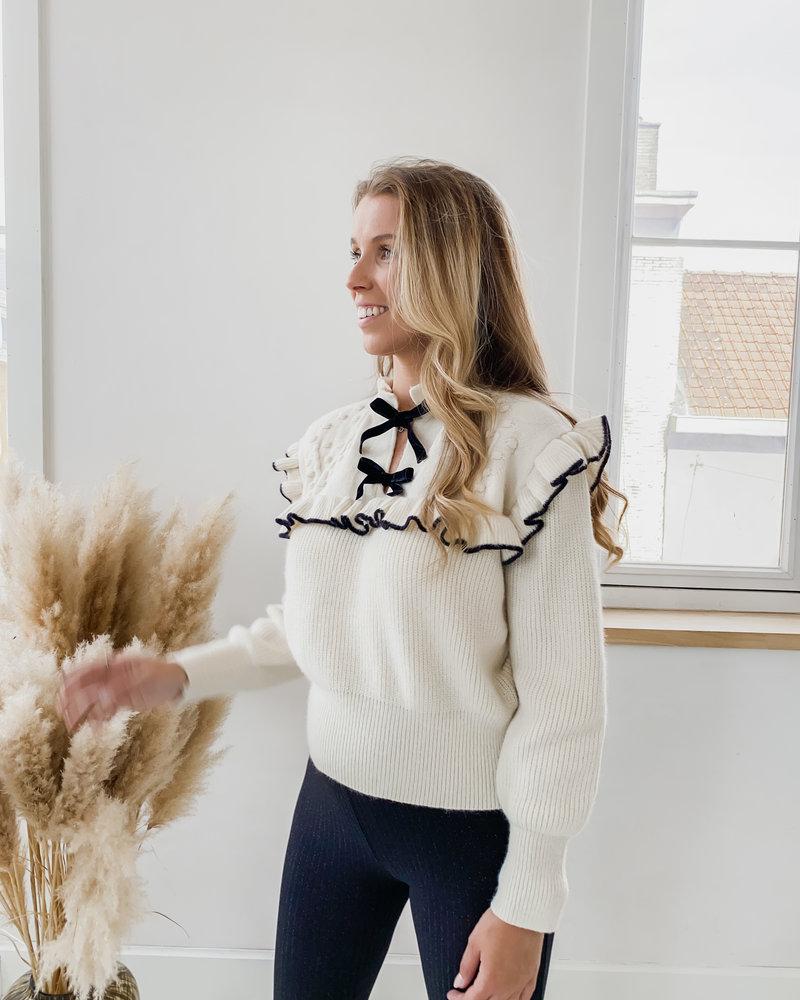 Crème black Detail Sweater