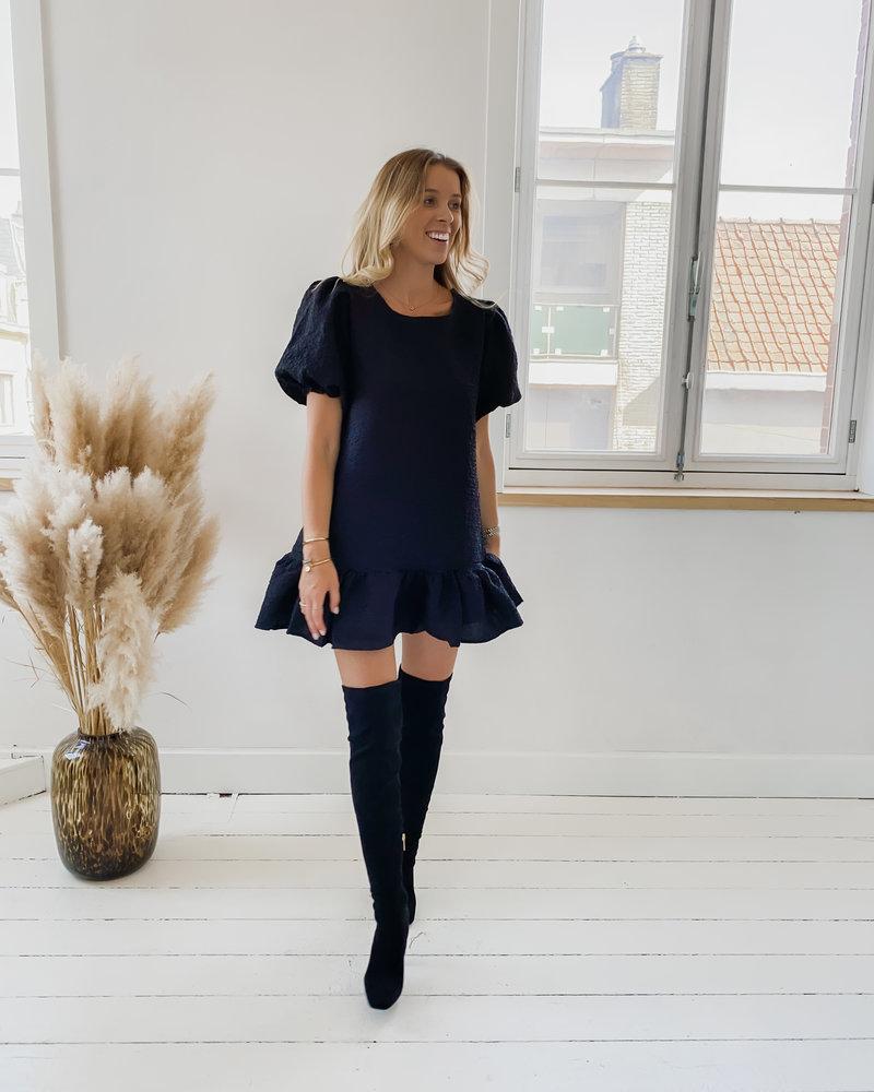 Black Poffy Dress