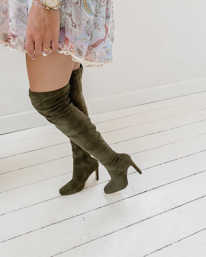 Green Overknee Boots