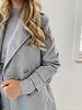 Grey Soft Button Coat