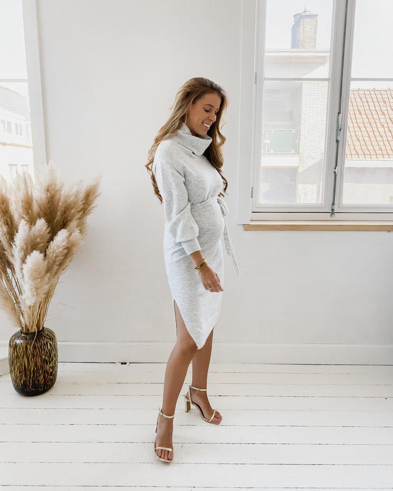 Grey Cosy Turtlenek Dress