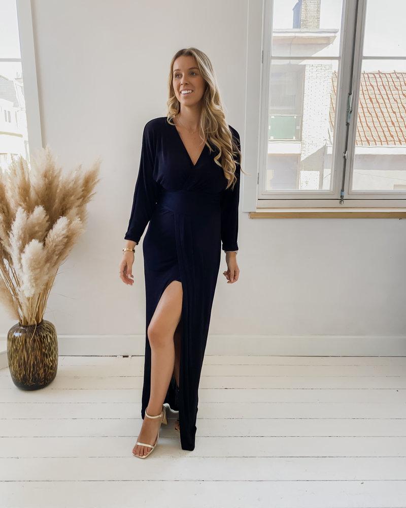 Classy Black Split Dress